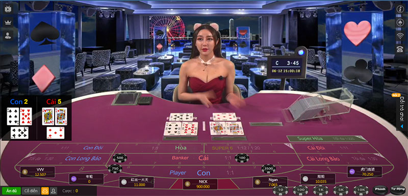 Bàn chơi Baccarat trên Kubet casino